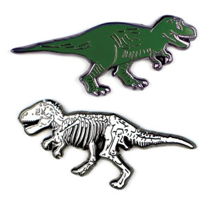 T- Rex Fossil Pin Set